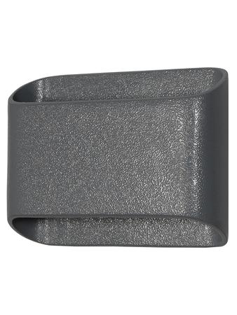 Modern Aluminium Die Cast Flat Rectangular Grey Up Down 2 Way Outdoor LED Warm White (2 x 3W)