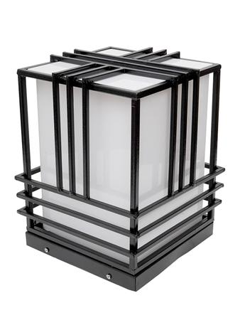 Modern Design Waterproof Decorative Smart Outdoor Lamp/Gate Light/Pillar Lamp in Steel Body and Cube Shape