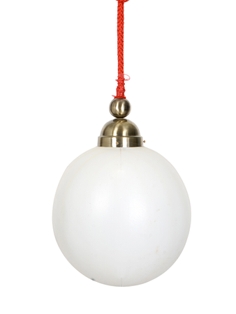 Globe Shape PVC Dome Pendant Hanging Ceiling Lamp with thick braided red rope wire cover Light,