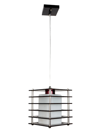 Wooden Layered  Cubical Simple Simple Black Hanging Pendant Ceiling Light ( layered Square Shape)