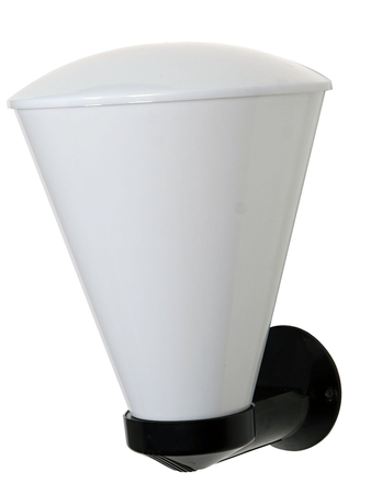 Modern Milky White Covered Arcylic Conical Outdoor Wall Light