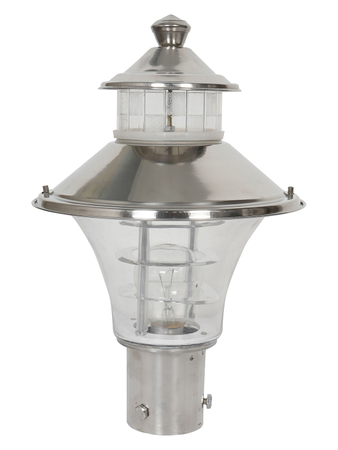 Regal Stainless Steel and Acrylic Outdoor Gate Light (8 inches diameter)