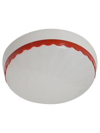 Red Velvet Plastic Durable 7.5 Inches Flush Mount Ceiling Light