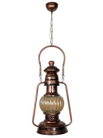 Antique Arabic Style Hanging Lantern for Room Office Home Decor, Vintage Look Pendant Lighting large size (Antique Copper Finish)