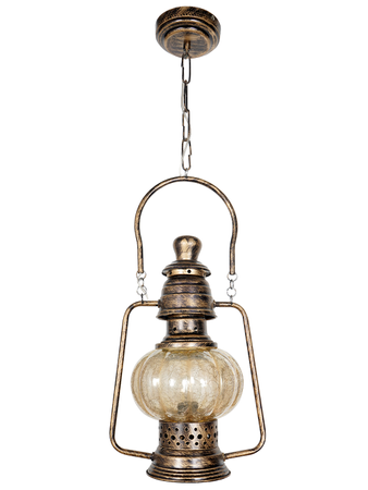 Antique Arabic Style Hanging Lantern for Room Office Home Decor, Vintage Look Pendant Lighting small size (Antique Copper Finish)