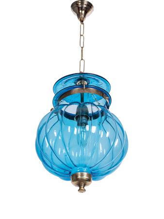Goan Melon Handi Lantern Hanging Light - Turquoise