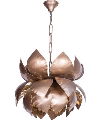 Gold Flakes Lotus Hanging Pendant Light