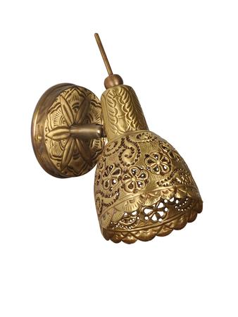 Hand tooled Single Brass Spot Light