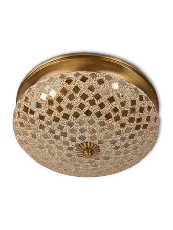 Golden Mosaic Brass Ceiling Light - Small