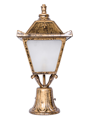 Vintage Antique Golden Small Outdoor Pole Light Gate Light