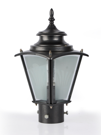 Classic Silver Grey Outdoor Pole Gate Light