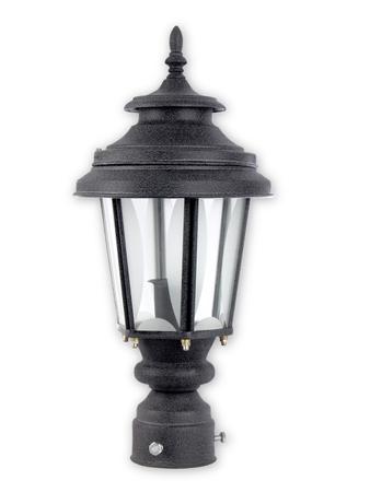 Crinkle Black Small Exterior Gate Light