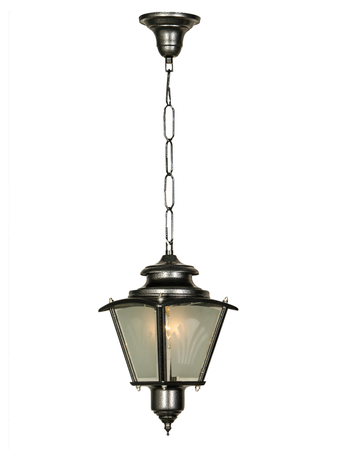 Classic Silver Grey Outdoor Lantern Light
