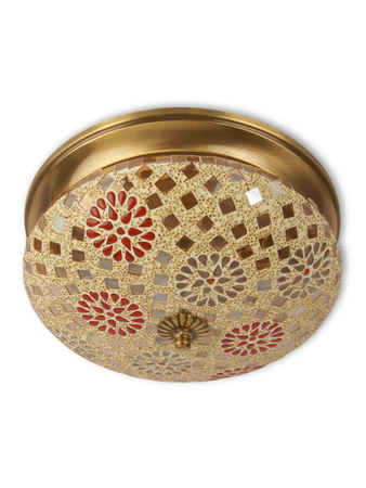 Tilak Mosaic Brass Ceiling Lamp - Large
