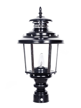 Lantern Style Outdoor Pole Large Gate Light