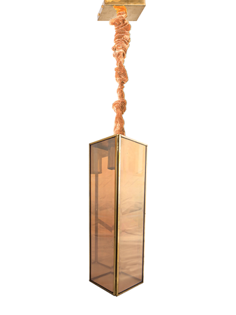 Beveled Luster Glass Brass Pendant Light