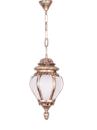 Ornate Victorian Antique Golden Outdoor Hanging Pendant Light