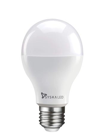 Syska E27 Base 9 Watt LED Bulb (Warm White Light)