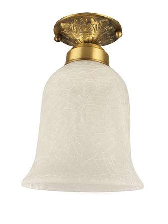 Small Semi Flush Brass Ceiling Light