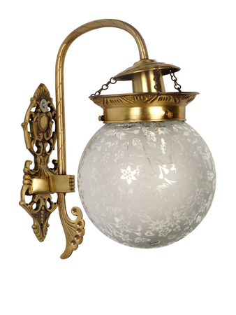 Etched Globe Wall Sconce Light