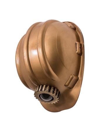 Gold Mine Miners Helmet Wall Light