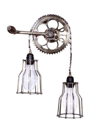 Cycle Gear Chain Wall Light