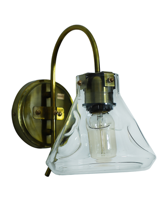 Conical Flask Antique Wall Sconce
