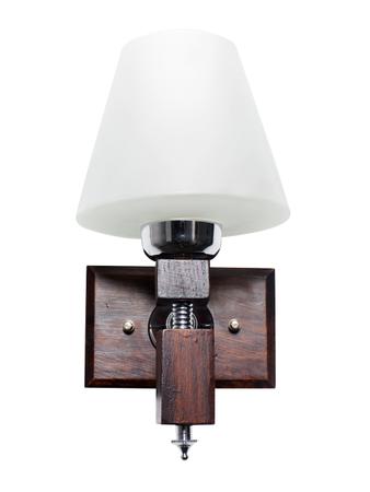 Martin Wood Tapered Glass Single Wall Light