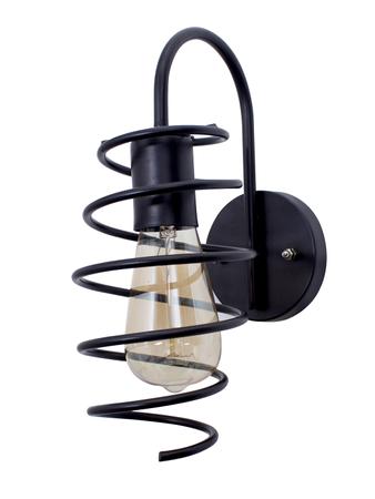 Shocker Coil Black Wall Lamp