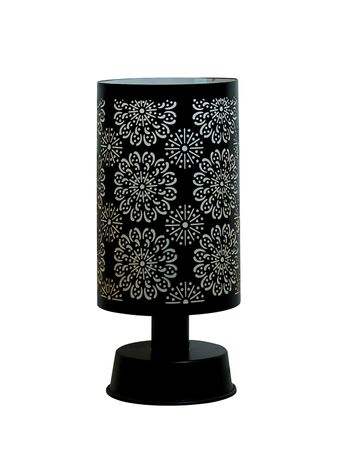 Flower Mesh Cylinder Table Lamp