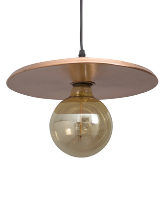Rock n Roll Copper Record Pendant Light