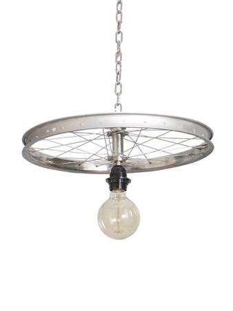 Bicycle Wheel Pendant Light