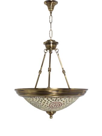 Dish Tilak Antique Brass 3 Light Hanging Light
