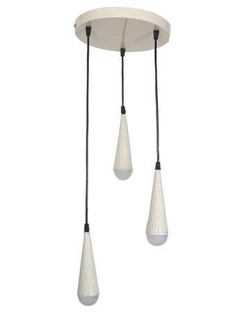 Waffle Ice Cream Cone Set of 3 Ceiling Pendant Light