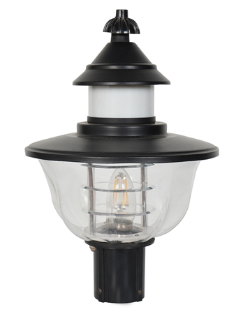 Black Aluminium and Acrylic Gate Light Transitional Main Gate Light for Outdoor Gate Pillar Light - B22 Holder