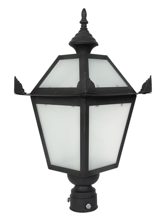 Fort Glass and Steel Gate Light for Gate Pillars Classic Gate Lamp Decorative Traditional Gate Light