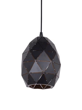 Small Black Oval Geometric Pendant Light
