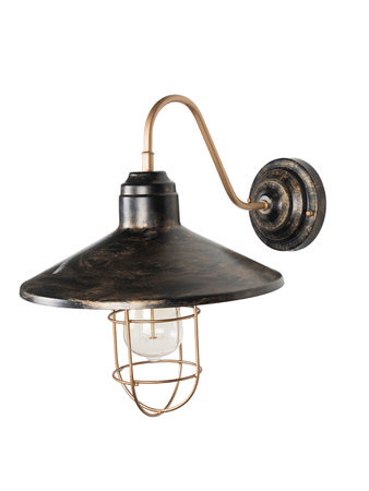 English Farmhouse Style Antique Gold Wall Sconce