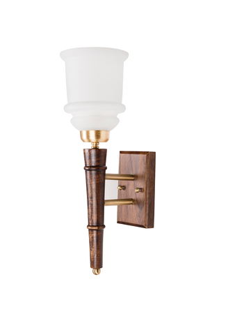 Wooden Torchiere 1 Light Wall Sconce