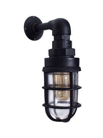 Black Cast Aluminium Nautical Bulkhead Wall Lamp