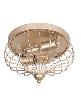Golden Flushed Industrial Cage Ceiling Light