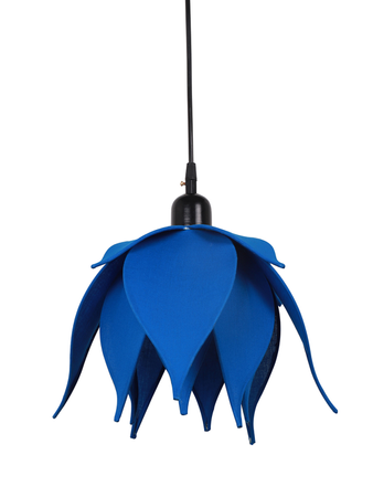 Auspicious Blue Lotus Pendant Light