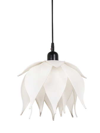 Auspicious Ivory Lotus Pendant Light