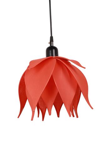 Auspicious Orange Lotus Pendant Light