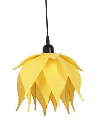Auspicious Yellow Lotus Pendant Light