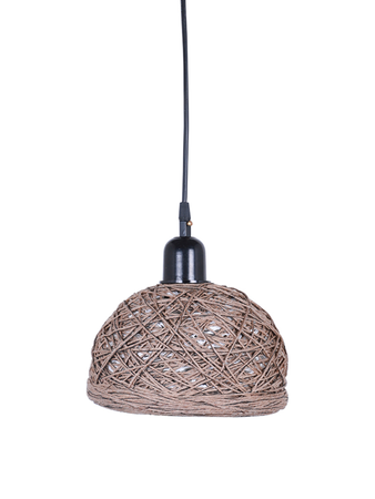 Brown 6 Inches String Bowl Pendant Lamp