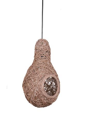 Weaver's Nest Brown String Pendant Light