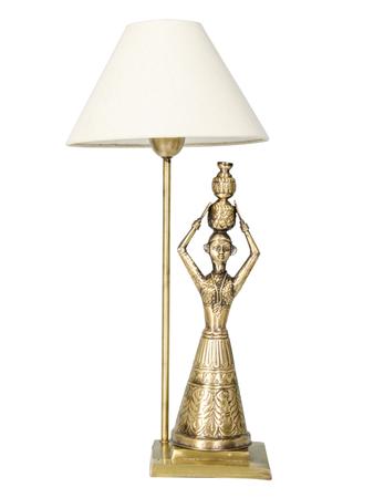Hand carved Brass Rajasthani Village Lamp