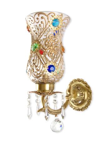 Bindi Single Brass & Crystal Sconce