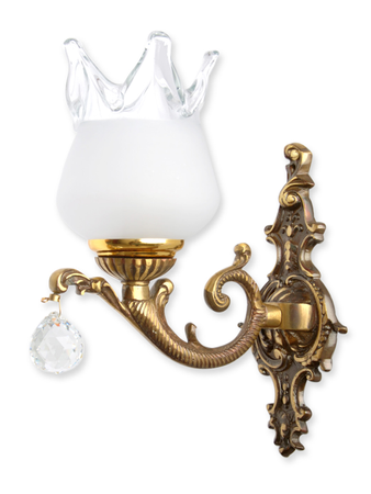 Antique Crystal Ball Single Wall Lamp
